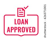 loan approved. badge with... | Shutterstock .eps vector #626371001