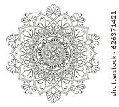 flower mandala. vintage... | Shutterstock .eps vector #626371421