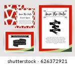 save the date.wedding... | Shutterstock .eps vector #626372921