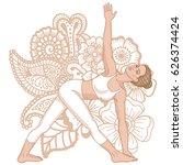 women silhouette. revolved... | Shutterstock .eps vector #626374424