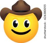 cowboy hat face emoji | Shutterstock .eps vector #626380055