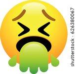 face vomiting emoji | Shutterstock .eps vector #626380067