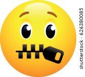 zipper mouth face emoji | Shutterstock .eps vector #626380085