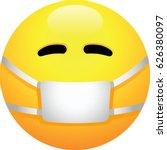 face with medical mask emoji | Shutterstock .eps vector #626380097