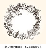 hand drawn banner with frame... | Shutterstock .eps vector #626380937