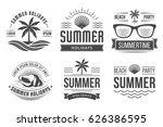 summer holidays emblems   Shutterstock .eps vector #626386595