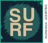 surf t shirt graphic   Shutterstock .eps vector #626387801