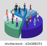 isometric flat 3d isolated... | Shutterstock .eps vector #626388251