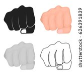 fist bump icon in cartoon style ... | Shutterstock .eps vector #626391839