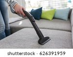 cleaning the sofa with vacuum... | Shutterstock . vector #626391959