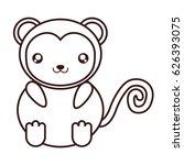 kawaii animal icon | Shutterstock .eps vector #626393075