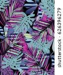 tropical leaves   Shutterstock . vector #626396279