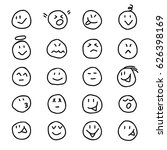 collection of emoticons smiles... | Shutterstock .eps vector #626398169