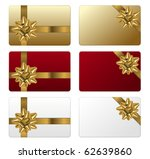set of gift cards | Shutterstock .eps vector #62639860
