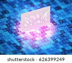 cyber security concept. the... | Shutterstock . vector #626399249