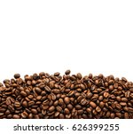 coffee beans. isolated on white ... | Shutterstock . vector #626399255