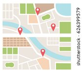 street maps and directions | Shutterstock .eps vector #626399579