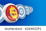 3d illustration of round target ...   Shutterstock . vector #626402291