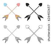 arrow icon cartoon. single gay... | Shutterstock .eps vector #626402657