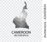 transparent   vector map of... | Shutterstock .eps vector #626403824