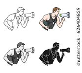 personal trainer icon in... | Shutterstock .eps vector #626404829