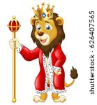 cute lion king cartoon. vector... | Shutterstock .eps vector #626407565