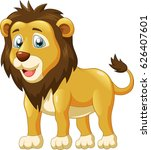 cute lion cartoon. vector... | Shutterstock .eps vector #626407601