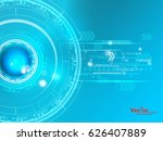 technology background concept ... | Shutterstock .eps vector #626407889