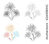 colorful fireworks icon in...   Shutterstock .eps vector #626408441