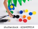 little hand of kid learn to... | Shutterstock . vector #626409014
