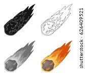 flame meteorite icon in cartoon ... | Shutterstock .eps vector #626409521