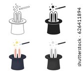 magical hat icon in cartoon... | Shutterstock .eps vector #626411894