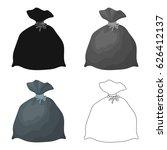 garbage bag icon in cartoon... | Shutterstock .eps vector #626412137