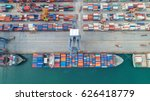 container container ship in... | Shutterstock . vector #626418779