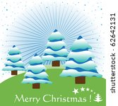 colorful christmas postcard... | Shutterstock .eps vector #62642131