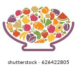 the stylized image of vase with ... | Shutterstock .eps vector #626422805