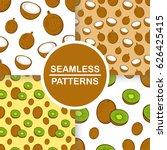 vector set of seamless patterns ... | Shutterstock .eps vector #626425415