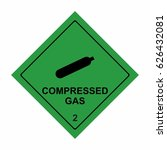 compressed gas sign vector... | Shutterstock .eps vector #626432081