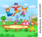 vector design of kids playing... | Shutterstock .eps vector #626432405