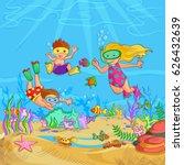 vector design of kids doing... | Shutterstock .eps vector #626432639