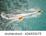 top view of banana boat playing ... | Shutterstock . vector #626432675