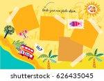 vector template for photos. | Shutterstock .eps vector #626435045