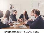 business corporate meeting of... | Shutterstock . vector #626437151
