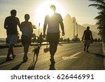 golden sun sets behind... | Shutterstock . vector #626446991