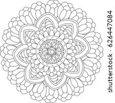 black and white pattern for...   Shutterstock . vector #626447084