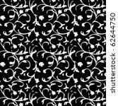 black and white ornament on... | Shutterstock .eps vector #62644750