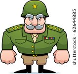 a cartoon military general with ... | Shutterstock .eps vector #62644885