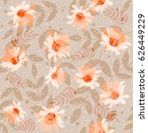 seamless cute pattern with... | Shutterstock .eps vector #626449229