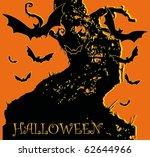 halloween bats raster | Shutterstock . vector #62644966
