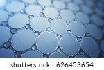 3d illusrtation of graphene... | Shutterstock . vector #626453654